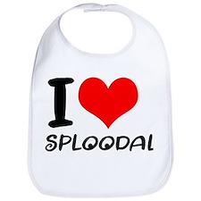 I Love Sploodal Bib