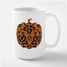 Damask Pattern Pumpkin Large Mug