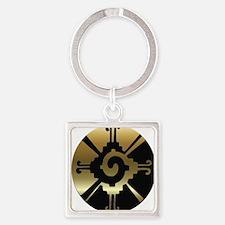 Mayan Hunab Ku Square Keychain