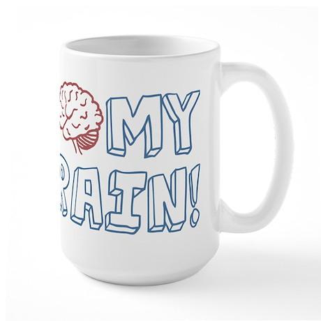 I Love My Brain Large Mug
