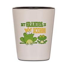 Frog King Grandpa Shot Glass