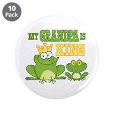 """Frog King Grandpa 3.5"""" Button (10 pack)"""
