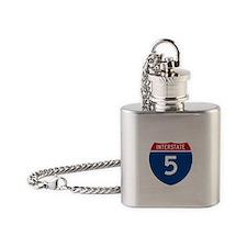 I-5 Highway Flask Necklace