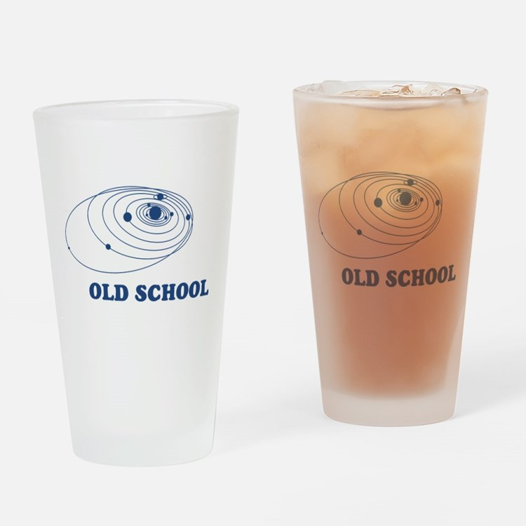 Old School Solar System Drinking Glass