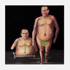 Silvio Berlusconi Tile Coaster