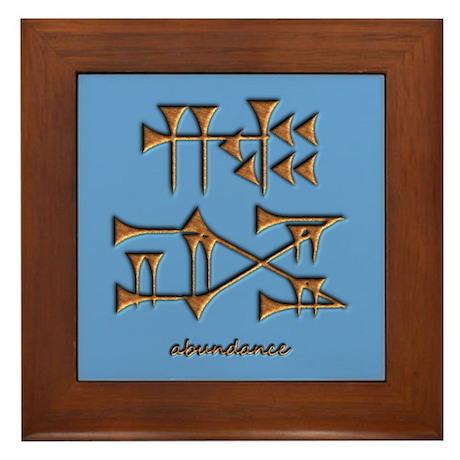 abundance/blue Framed Tile