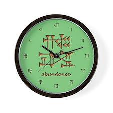 abundance/green Wall Clock