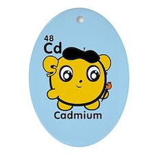 Cute Element Cadmium Ornament (Oval)