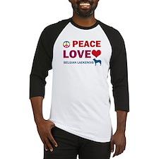 Peace Love Belgian Laekenois Baseball Jersey
