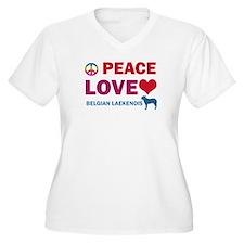 Peace Love Belgian Laekenois T-Shirt