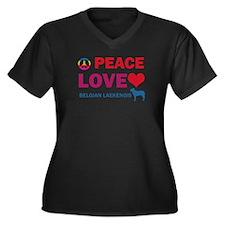 Peace Love Belgian Laekenois Women's Plus Size V-N