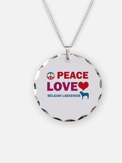 Peace Love Belgian Laekenois Necklace Circle Charm