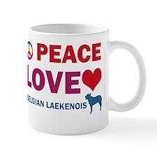 Peace Love Belgian Laekenois Mug
