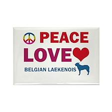 Peace Love Belgian Laekenois Rectangle Magnet