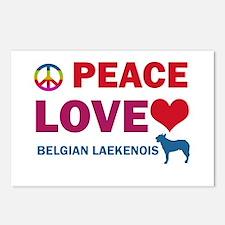 Peace Love Belgian Laekenois Postcards (Package of