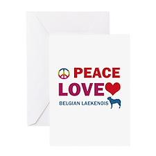 Peace Love Belgian Laekenois Greeting Card