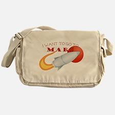 Retro I Want To Go To Mars Messenger Bag