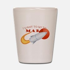 Retro I Want To Go To Mars Shot Glass