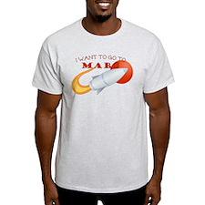 Retro I Want To Go To Mars T-Shirt