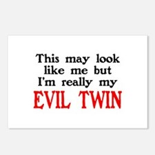 I'm My Evil Twin Postcards (Package of 8)