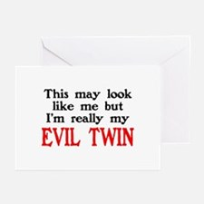 I'm My Evil Twin Greeting Cards (Pk of 10)
