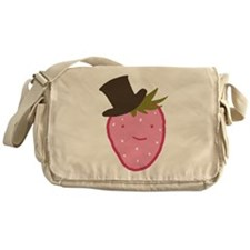 Strawberry In A Top Hat Messenger Bag