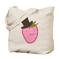 Strawberry In A Top Hat Tote Bag