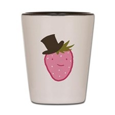 Strawberry In A Top Hat Shot Glass