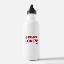 Peace Love Chesapeake Bay Retriever Sports Water Bottle