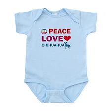 Peace Love Chihuahua Infant Bodysuit