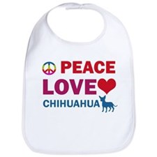 Peace Love Chihuahua Bib