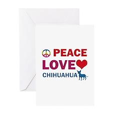 Peace Love Chihuahua Greeting Card