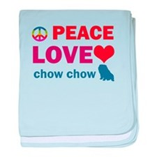 Peace Love Chow Chow baby blanket
