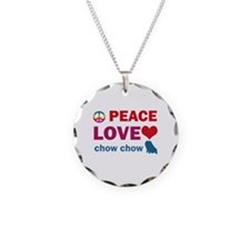 Peace Love Chow Chow Necklace