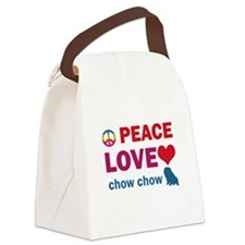 Peace Love Chow Chow Canvas Lunch Bag