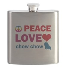 Peace Love Chow Chow Flask