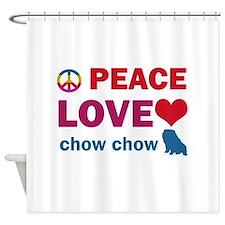 Peace Love Chow Chow Shower Curtain