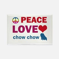 Peace Love Chow Chow Rectangle Magnet (100 pack)