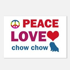 Peace Love Chow Chow Postcards (Package of 8)