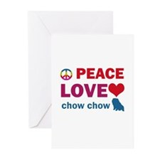 Peace Love Chow Chow Greeting Cards (Pk of 10)