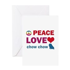 Peace Love Chow Chow Greeting Card