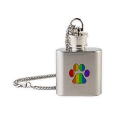 Furry Pride Flask Necklace