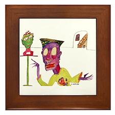 Art admirer Framed Tile