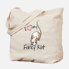 I Love My Fancy Rat Tote Bag