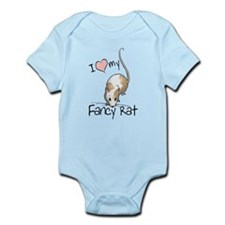 I Love My Fancy Rat Infant Bodysuit