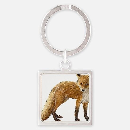 Fox Square Keychain
