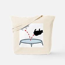 Trampoline Bear Tote Bag