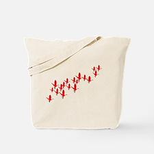 Scarlet Ibis Flock Tote Bag