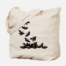 Falling Blackbirds Tote Bag