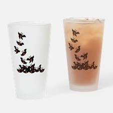 Falling Blackbirds Drinking Glass
